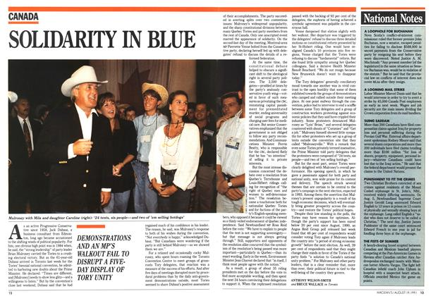 Article Preview: SOLIDARITY IN BLUE, August 1991 | Maclean's
