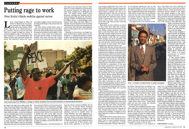 Article Preview: Putting rage to work, August 1991 | Maclean's