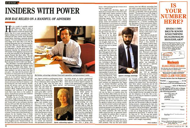 Article Preview: INSIDERS WITH POWER, August 1991 | Maclean's