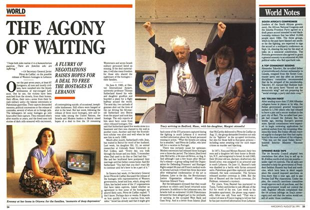 Article Preview: THE AGONY OF WAITING, August 1991 | Maclean's