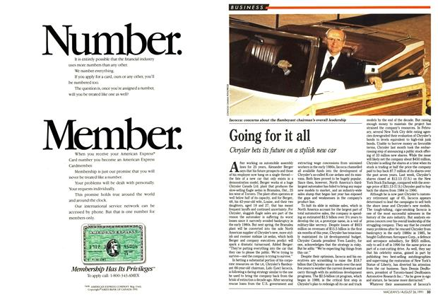Article Preview: Going for it all, August 1991 | Maclean's
