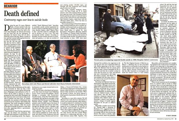 Article Preview: Death defined, August 1991 | Maclean's