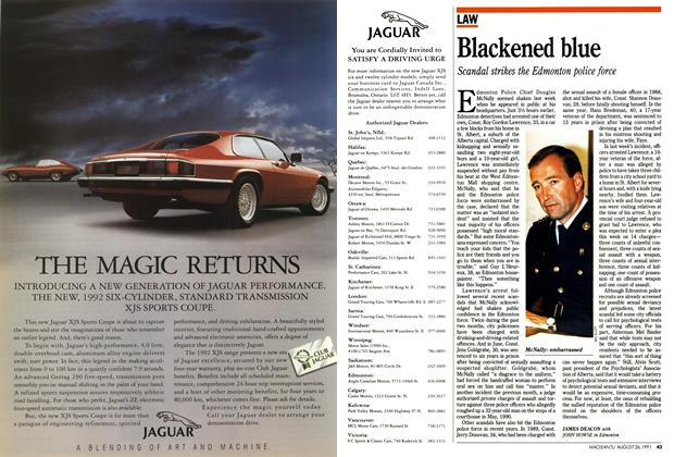 Article Preview: Blackened blue, August 1991 | Maclean's