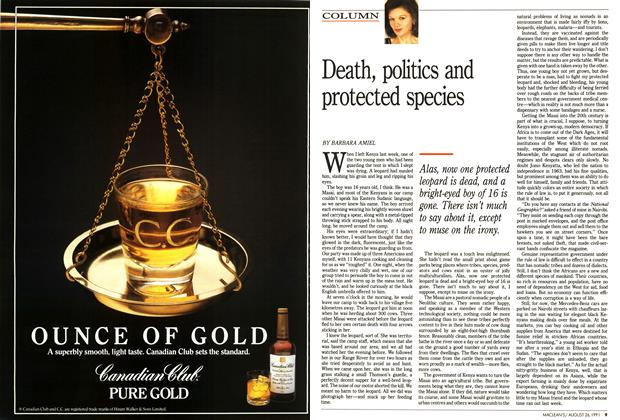 Article Preview: Death, politics and protected species, August 1991 | Maclean's