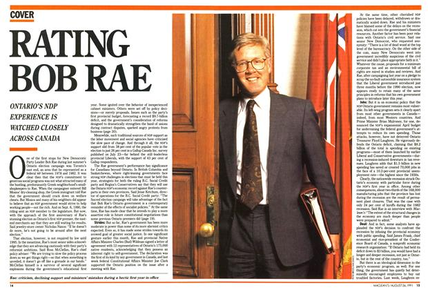 Article Preview: RATING BOB RAE, August 1991 | Maclean's