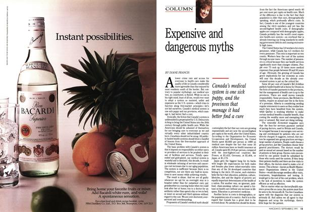 Article Preview: Expensive and dangerous myths, September 1991 | Maclean's