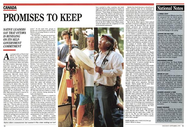 Article Preview: PROMISES TO KEEP, September 1991 | Maclean's