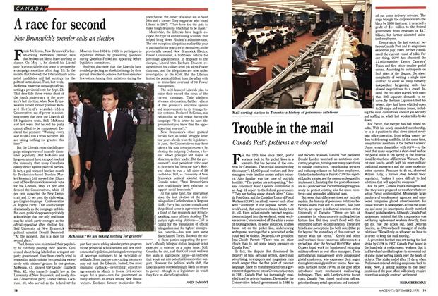 Article Preview: A race for second, September 1991 | Maclean's