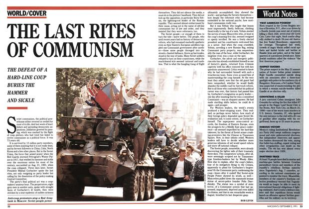 Article Preview: THE LAST RITES OF COMMUNISM, September 1991 | Maclean's