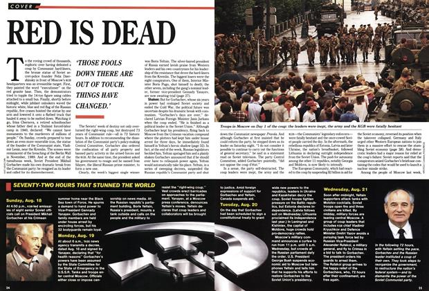 Article Preview: RED IS DEAD, September 1991 | Maclean's