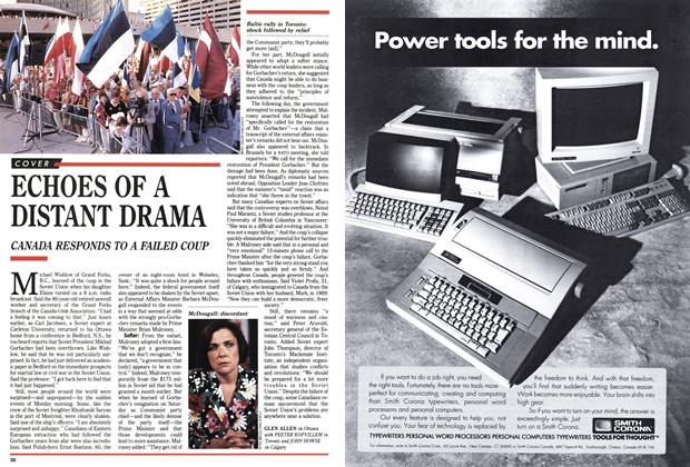 Article Preview: ECHOES OF A DISTANT DRAMA, September 1991 | Maclean's