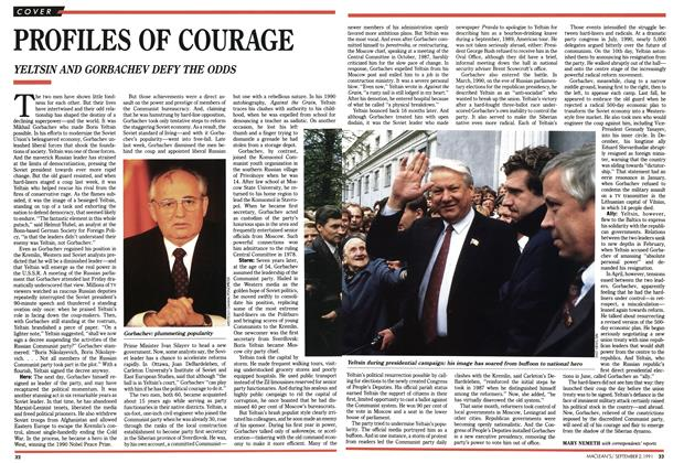 Article Preview: PROFILES OF COURAGE, September 1991 | Maclean's