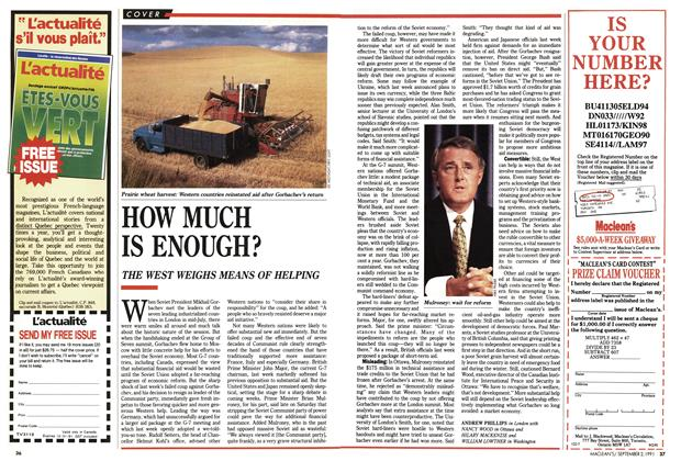 Article Preview: HOW MUCH IS ENOUGH?, September 1991 | Maclean's