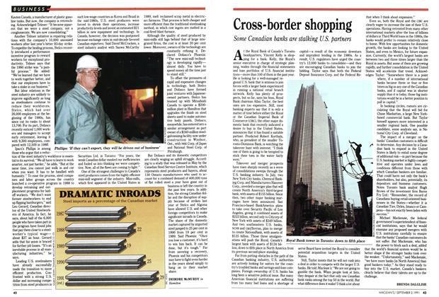 Article Preview: Cross-border shopping, September 1991 | Maclean's