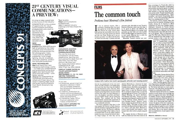 Article Preview: The common touch, September 1991 | Maclean's