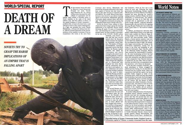 Article Preview: DEATH OF A DREAM, September 1991 | Maclean's