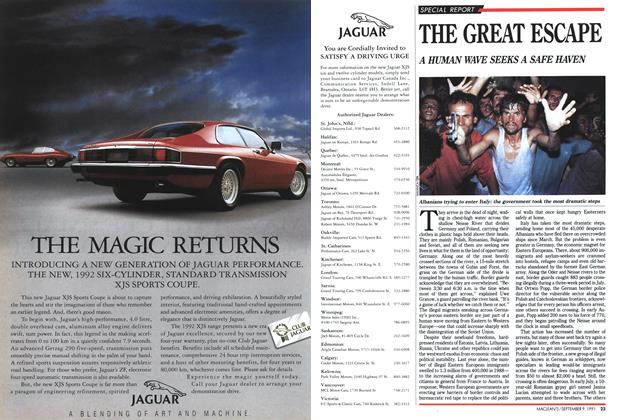 Article Preview: THE GREAT ESCAPE, September 1991 | Maclean's