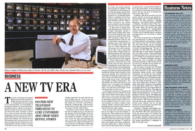 Article Preview: A NEW TV ERA, September 1991 | Maclean's