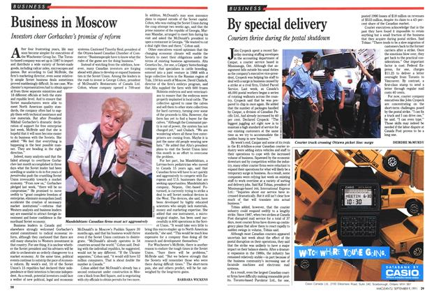 Article Preview: By special delivery, September 1991 | Maclean's
