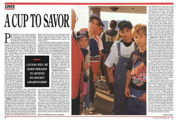 Article Preview: A CUP TO SAVOR, September 1991 | Maclean's