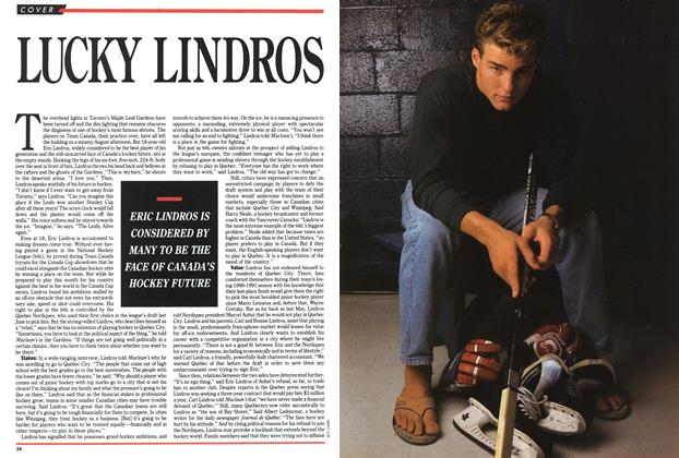 Article Preview: LUCKY LINDROS, September 1991 | Maclean's