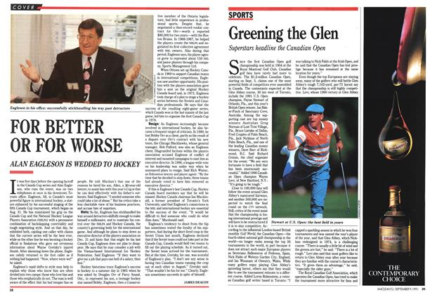 Article Preview: Greening the Glen, September 1991 | Maclean's