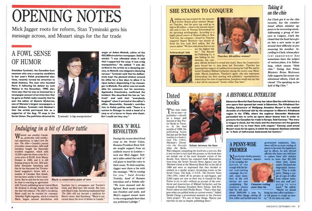 Article Preview: OPENING NOTES, September 1991 | Maclean's