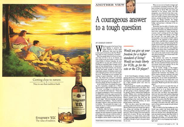 Article Preview: A courageous answer to a tough question, September 1991 | Maclean's