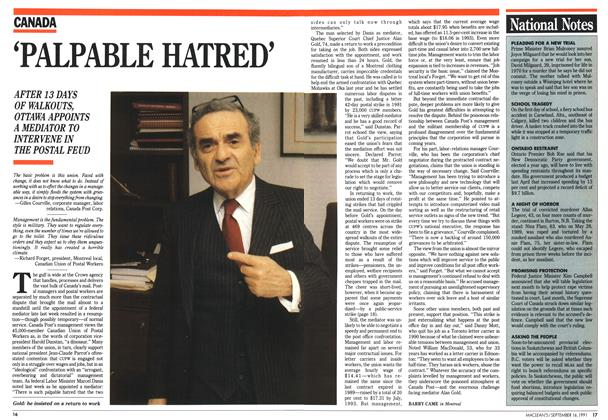 Article Preview: 'PALPABLE HATRED', September 1991 | Maclean's