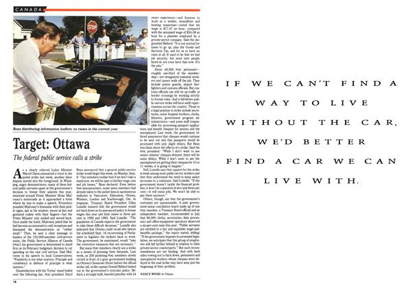Article Preview: Target: Ottawa, September 1991 | Maclean's