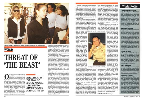 Article Preview: THREAT OF 'THE BEAST', September 1991 | Maclean's