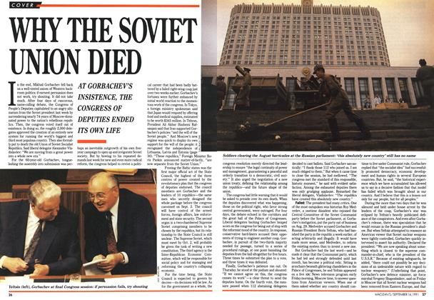 Article Preview: WHY THE SOVIET UNION DIED, September 1991 | Maclean's