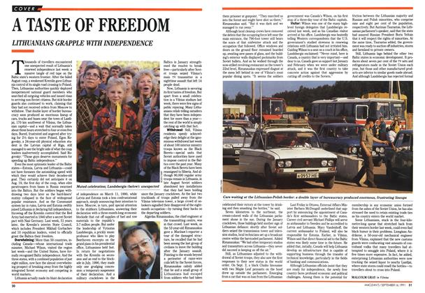 Article Preview: A TASTE OF FREEDOM, September 1991 | Maclean's