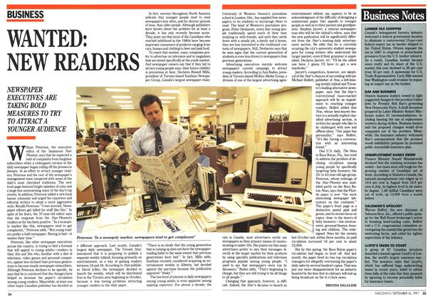 Article Preview: WANTED: NEW READERS, September 1991 | Maclean's