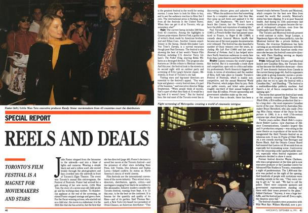 Article Preview: REELS AND DEALS, September 1991 | Maclean's