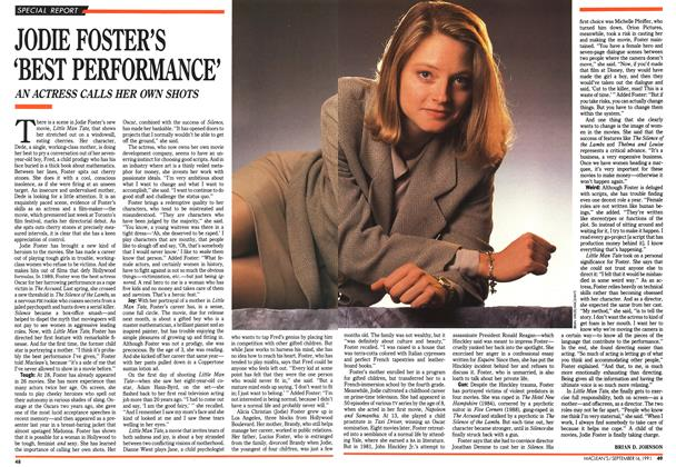 Article Preview: JODIE FOSTER'S 'BEST PERFORMANCE', September 1991 | Maclean's