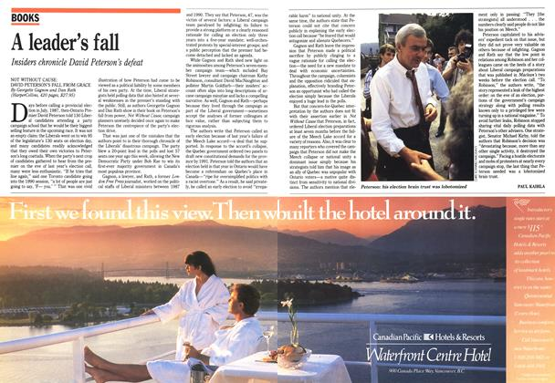 Article Preview: A leader's fall, September 1991 | Maclean's