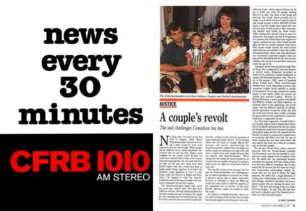 Article Preview: A couple's revolt, September 1991   Maclean's