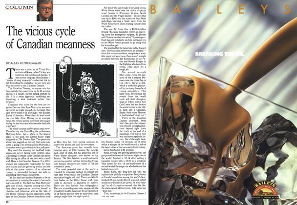Article Preview: The vicious cycle of Canadian meanness, September 1991 | Maclean's