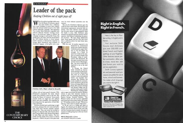 Article Preview: Leader of the pack, September 1991 | Maclean's