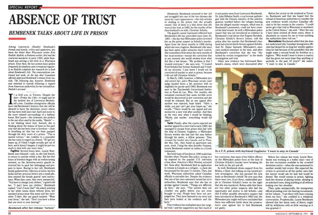 Article Preview: ABSENCE OF TRUST, September 1991 | Maclean's