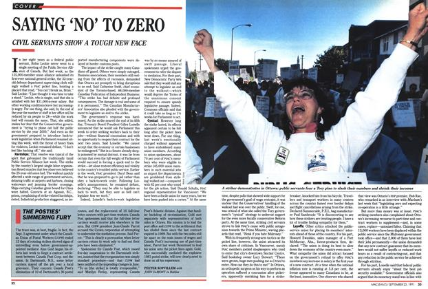 Article Preview: SAYING 'NO' TO ZERO, September 1991 | Maclean's
