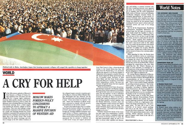 Article Preview: A CRY FOR HELP, September 1991 | Maclean's