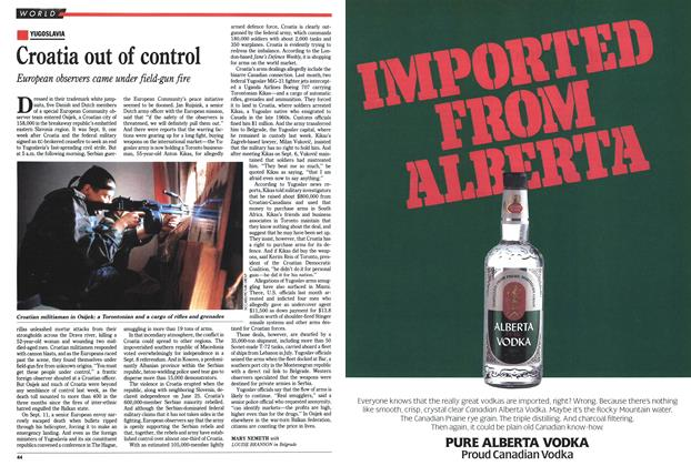 Article Preview: Croatia out of control, September 1991 | Maclean's