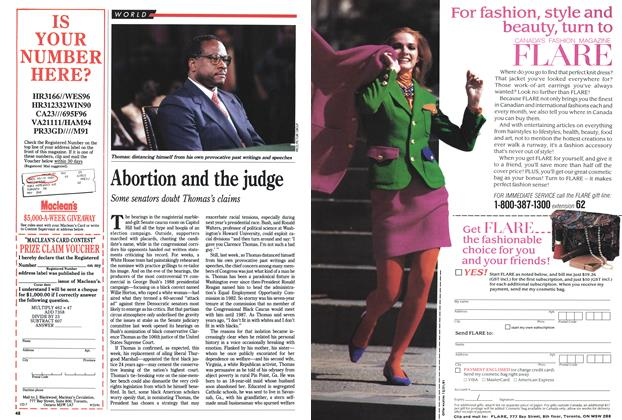 Article Preview: Abortion and the judge, September 1991 | Maclean's