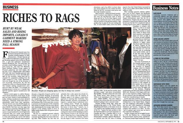 Article Preview: RICHES TO RAGS, September 1991 | Maclean's