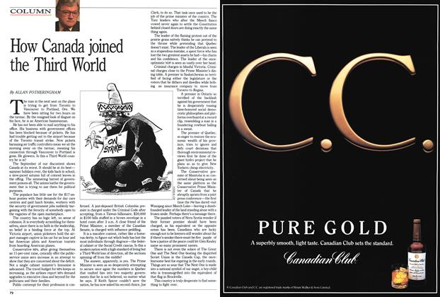 Article Preview: How Canada joined the Third World, September 1991   Maclean's