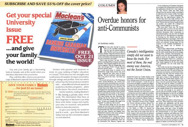 Article Preview: Overdue honors for anti-Communists, September 1991 | Maclean's