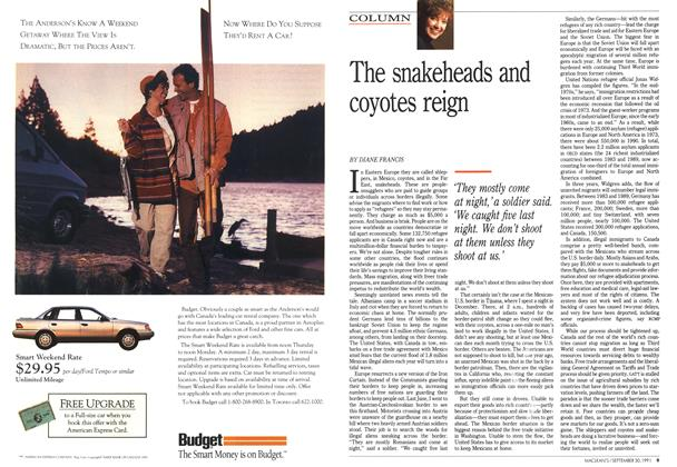 Article Preview: The snakeheads and coyotes reign, September 1991 | Maclean's