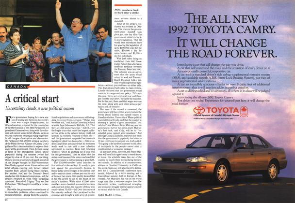 Article Preview: A critical start, September 1991 | Maclean's